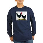Black Broiler Chickens Long Sleeve Dark T-Shirt