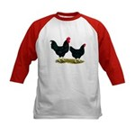 Black Broiler Chickens Kids Baseball Jersey