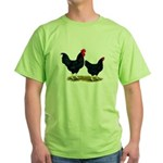 Black Broiler Chickens Green T-Shirt