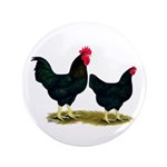 "Black Broiler Chickens 3.5"" Button (100 pack)"