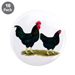 "Black Broiler Chickens 3.5"" Button (10 pack)"