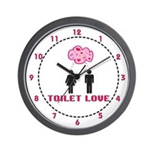 Toilet Love Engrish Wall Clock