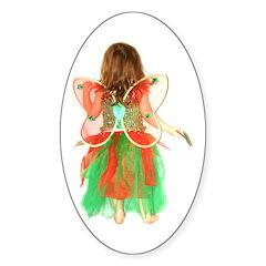 Christmas Fairy Oval Decal