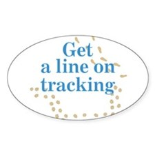 Line On Tracking Oval Decal