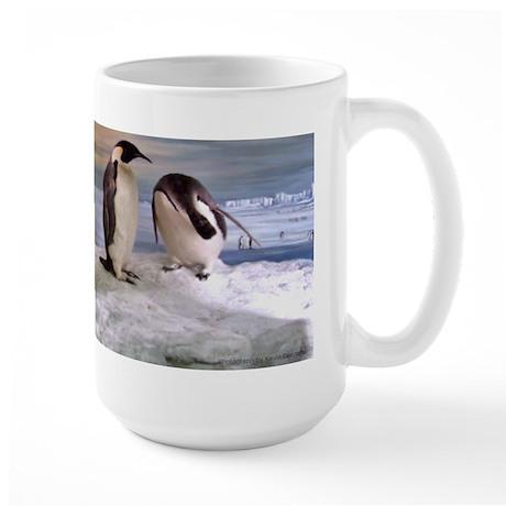Penguins from Antarctica Large Mug