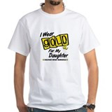 I wear gold for my daughter Mens White T-shirts