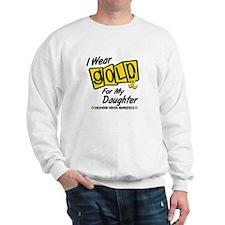 I Wear Gold For My Daughter 8 Sweatshirt