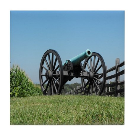 Cannon at Antietam Tile Coaster