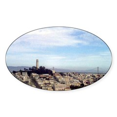 San Francisco Souvenir Oval Decal
