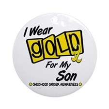 I Wear Gold For My Son 8 Ornament (Round)