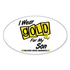 I Wear Gold For My Son 8 Oval Decal