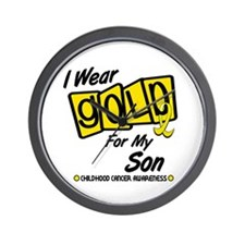 I Wear Gold For My Son 8 Wall Clock
