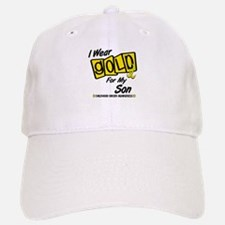 I Wear Gold For My Son 8 Baseball Baseball Cap