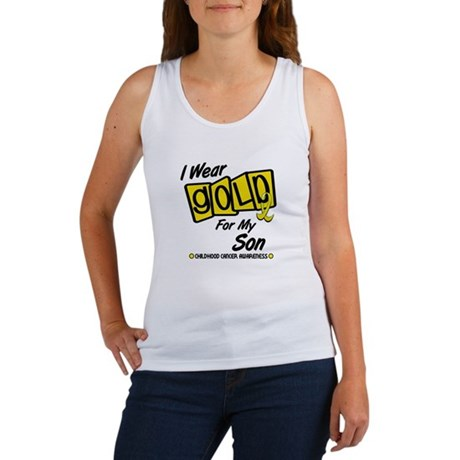 I Wear Gold For My Son 8 Women's Tank Top