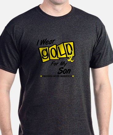 I Wear Gold For My Son 8 T-Shirt