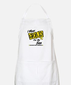 I Wear Gold For My Son 8 BBQ Apron