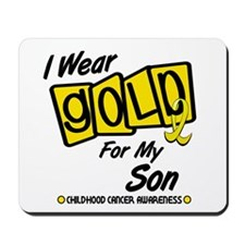 I Wear Gold For My Son 8 Mousepad