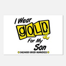 I Wear Gold For My Son 8 Postcards (Package of 8)