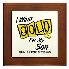 I Wear Gold For My Son 8 Framed Tile