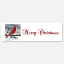 Cardinal on Pine Bumper Bumper Bumper Sticker