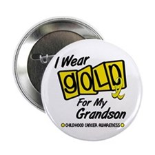 "I Wear Gold For My Grandson 8 2.25"" Button"