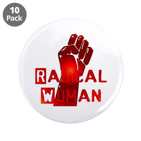 "Radical Woman 3.5"" Button (10 pack)"