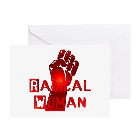 Radical Woman Greeting Card