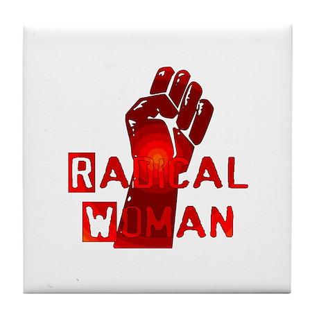 Radical Woman Tile Coaster