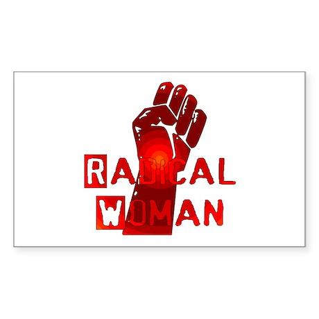 Radical Woman Rectangle Sticker
