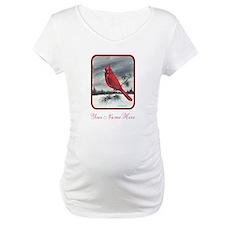 Cardinal on Pine Shirt