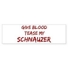 Tease aSchnauzer Bumper Car Sticker