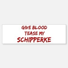 Tease aSchipperke Bumper Car Car Sticker
