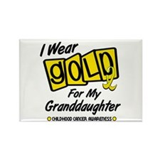 I Wear Gold For My Granddaughter 8 Rectangle Magne