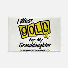 I Wear Gold For My Granddaughter 8 Rectangle Magne