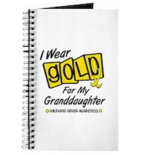 I Wear Gold For My Granddaughter 8 Journal