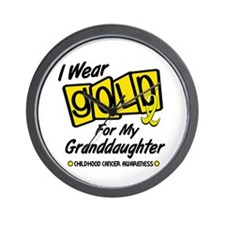 I Wear Gold For My Granddaughter 8 Wall Clock