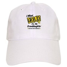 I Wear Gold For My Granddaughter 8 Baseball Cap