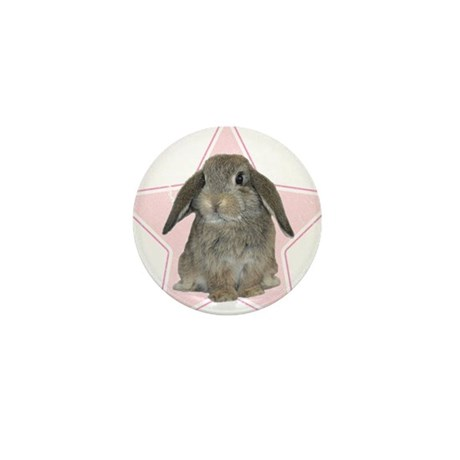 Baby bunny (pink) Mini Button