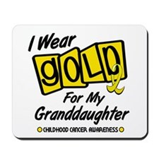 I Wear Gold For My Granddaughter 8 Mousepad