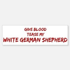 Tease aWhite German Shepherd Bumper Bumper Bumper Sticker