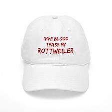 Tease aRottweiler Baseball Cap