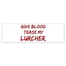 Tease aLurcher Bumper Car Sticker
