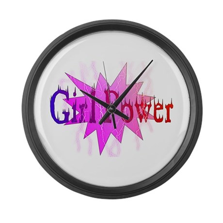 Girl Power Large Wall Clock