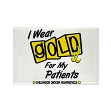 I Wear Gold For My Patients 8 Rectangle Magnet