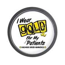 I Wear Gold For My Patients 8 Wall Clock