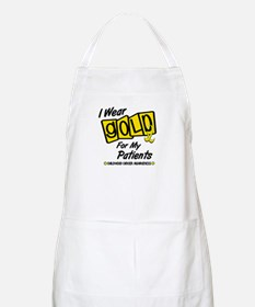 I Wear Gold For My Patients 8 BBQ Apron