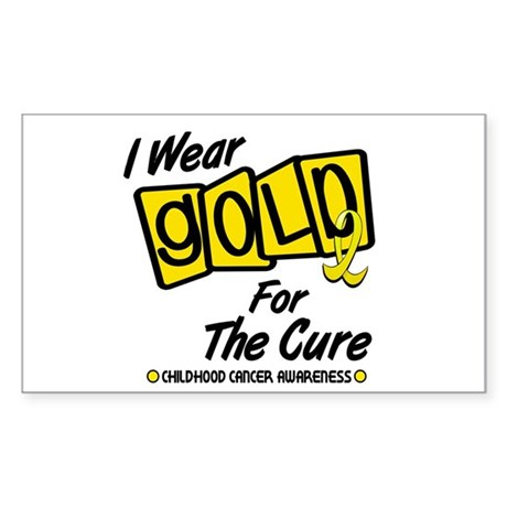I Wear Gold For The Cure 8 Rectangle Sticker