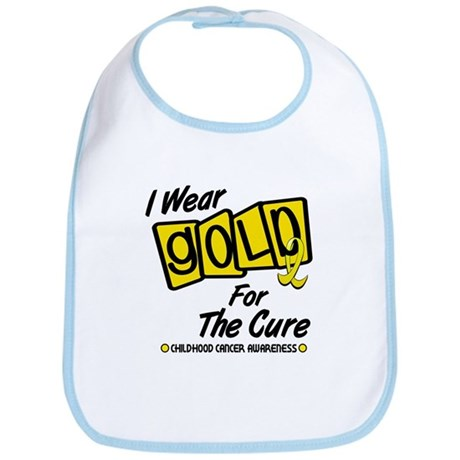 I Wear Gold For The Cure 8 Bib