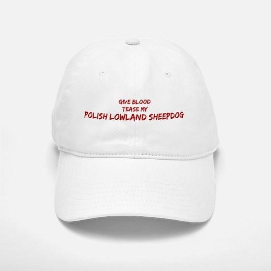 Tease aPolish Lowland Sheepdo Baseball Baseball Cap