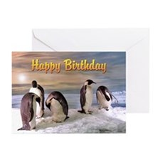 Penguins from Antarctica Greeting Cards (Pack of 6